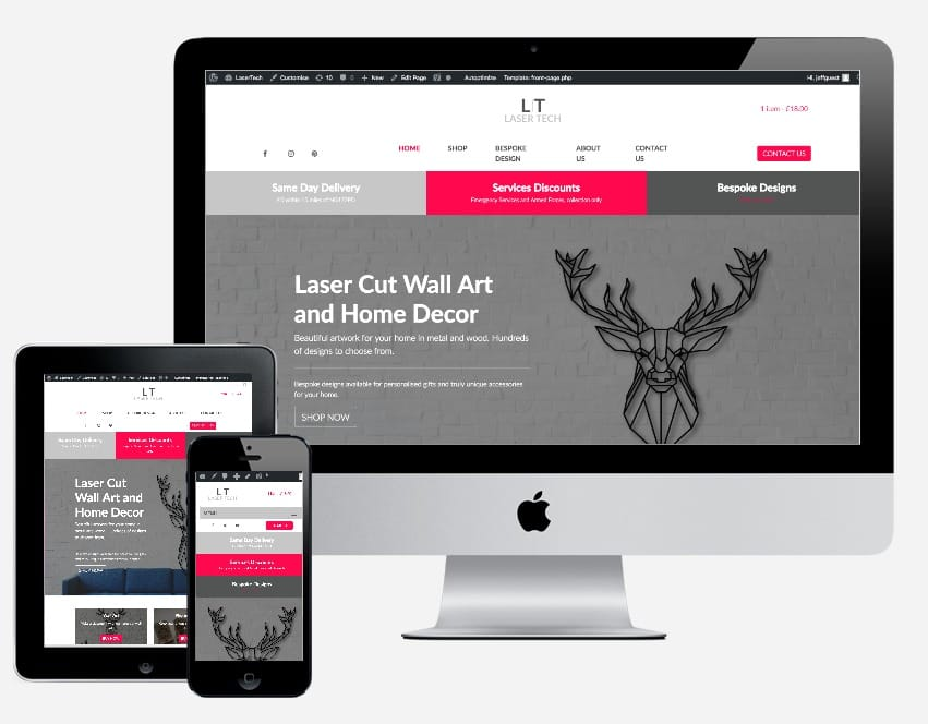 Web Design Engine concepts with graphics