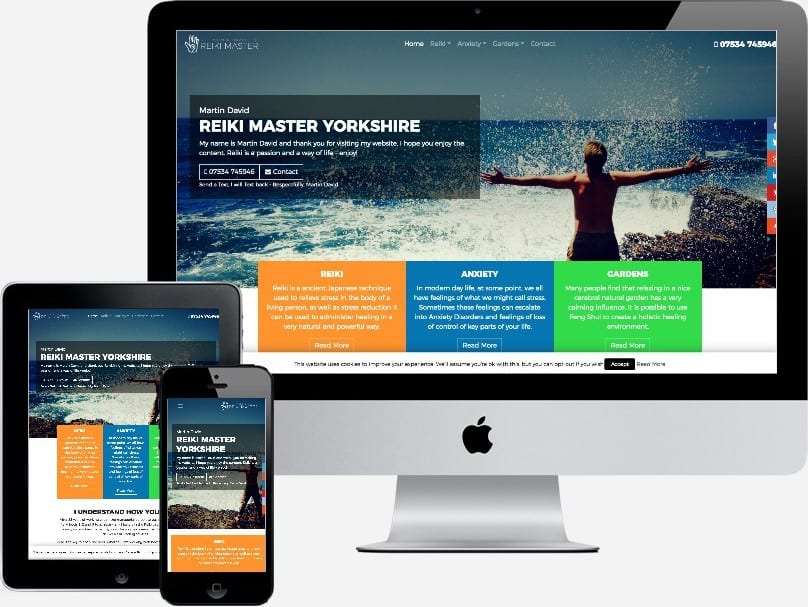 Reiki Healing website