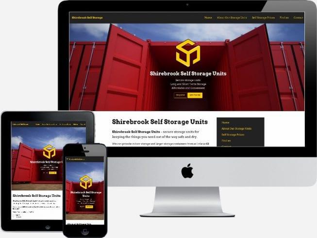 Shirebrook Self Storage Website